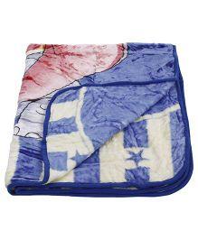 Babyhug Mink Blanket Elephant Print - Blue