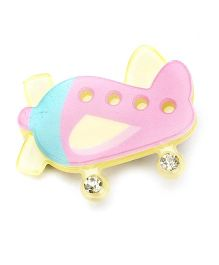 Sugarcart Studded Aeroplane Clip - Pink