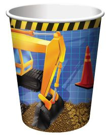 Wanna Party Under Construction Cups - 9 Oz