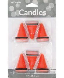 Wanna Party Under Construction Molded Candles - Pack of 6