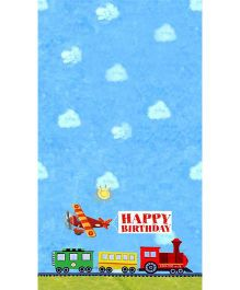 Wanna Party Transportation Birthday Table Cover - Blue
