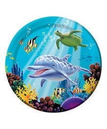 Wanna Party Underwater Theme Party Lunch Plates - Pack of 8