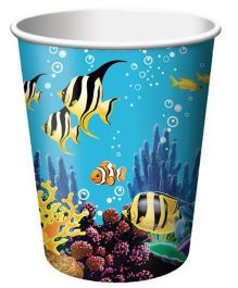 Wanna Party Underwater Theme Party 9oz Paper Cups - 8CT
