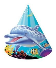 Wanna Party Underwater Theme Party Child Hats - Pack of 8