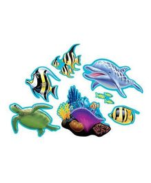 Wanna Party Underwater Theme Party Assorted Cutouts - Pack of 7