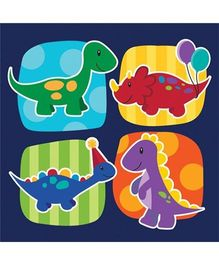 Wanna Party Dinosaurs Theme Party Lunch Napkins - Set of 16