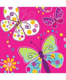 Wanna Party Butterfly Sparkle Lunch Napkins - Set of 16