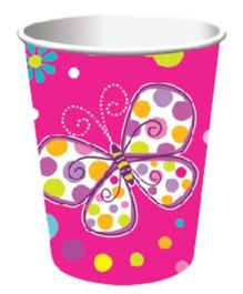 Wanna Party Butterfly Sparkle Paper Cups - 9 Oz
