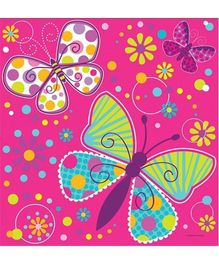 Wanna Party Butterfly Sparkle Table Cover - Pink
