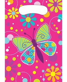 Wanna Party Butterfly Sparkle Loot Bags - 8CT