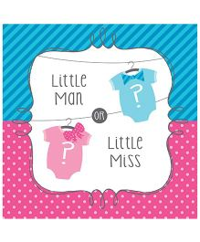 Wanna Party Little Man Little Miss Lunch Napkins - Set of 16