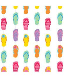 Wanna Party Flip Flop String Decoration - Pack of 6