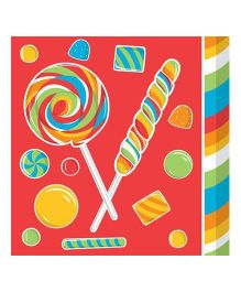 Wanna Party Sugar Candy Paper Napkins - Pack of 16