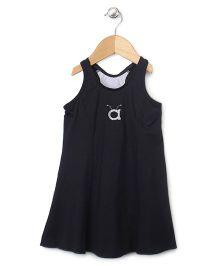 Anthill Sleeveless Frock Style Swimsuit - Black