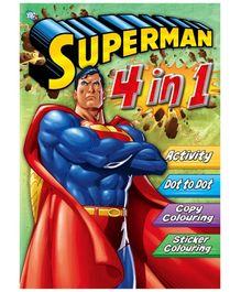 DC Comics Superman 4 In 1 Activity Book