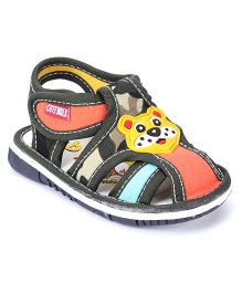 Cute Walk Bear Face Sandals - Multi Color