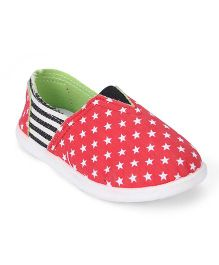 Cute Walk Baby Shoes Star Print - Red