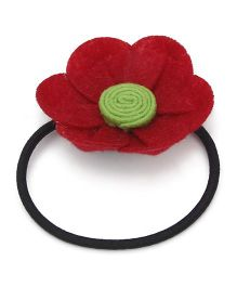 Chotee Gia Flower Design Rubberband - Red