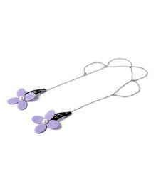 Chotee Three Scallop Head Chain With Flower - Purple