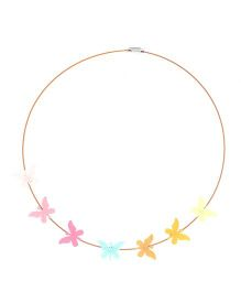 Chotee Tiny Butterfly Necklace - Multicolor