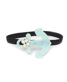 Chotee Anchor Hairtie/Bracelet with Flower - Light Blue