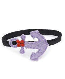 Chotee Pearl Hairtie/Bracelet with Flower - Purple