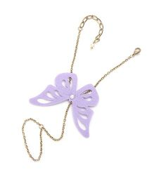 Chotee Golden Hand Chain With Butterfly - Purple
