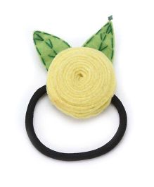 Chotee Flower And Leaf Rubber Band - Yellow