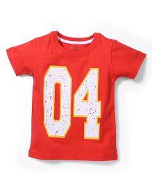 Babyhug Half Sleeves T-Shirt 04 Print - Red