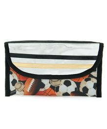 Li'll Pumpkins Ball Pencil Pouch Bag - Silver