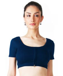 Morph Half Sleeves Nursing Choli - Navy Blue