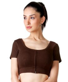 Morph Half Sleeves Nursing Choli - Brown