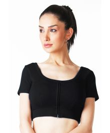 Morph Half Sleeves Nursing Choli - Black