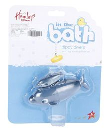 Hamleys Dippy Divers Blue Whale Bath Toy - Grey