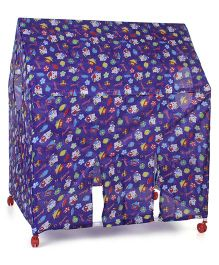 Lovely Play Tent House With Wheels - Dark Blue