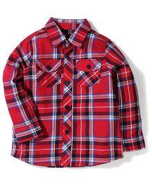 Little Wonder Checks Shirt - Red
