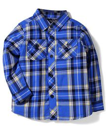 Little Wonder Checks Shirt - Blue