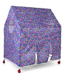 Lovely Play Tent House With Wheels - Blue