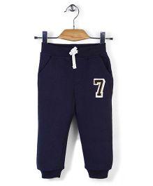 Little Wonder Jogger Pants With Number 7 Print - Blue