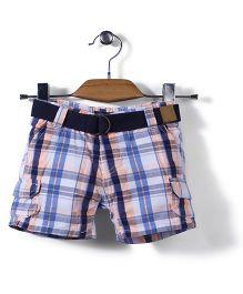 Little Wonder Checks Print Shorts - Multicolor