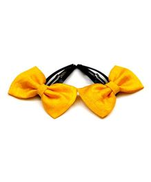 Pigtails And Ponys Buttercup Bows Hair Clip - Yellow