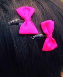 Pigtails And Ponys Bow Hair Clip - Hot Pink