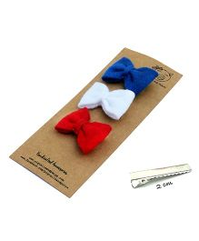 Pigtails And Ponys Felt Bow Hair Clips - Multicolour