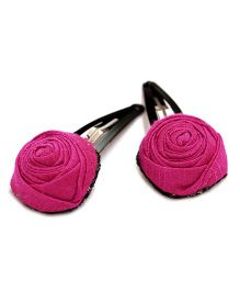 Pigtails And Ponys Rose Snap Clips - Pink