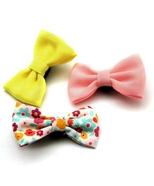 Pigtails And Ponys Blossom Bow Hair Clips - Multicolour