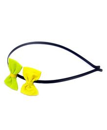 Pigtails And Ponys Bow Hair Band - Yellow & Green
