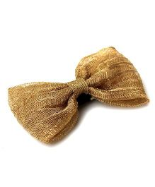 Pigtails And Ponys Shimmer Bow Hair Clip -  Golden