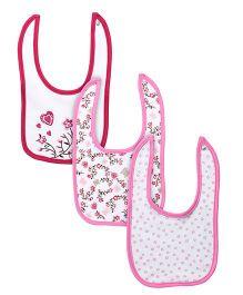 Little Wacoal Set Of Three Bibs - Pink & White