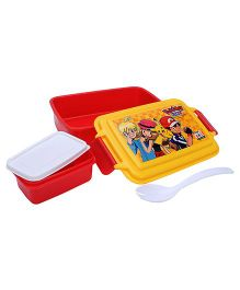 Pokemon Lunch Box XY Print - Red And Yellow