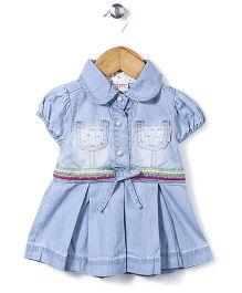 Little Denim Store Fit & Flare Dress - Blue